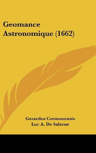 Geomance Astronomique (1662)