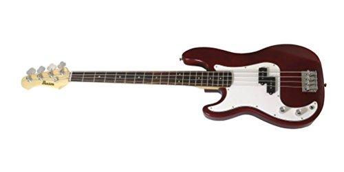 Benson PSN (Precision) Rotwein rot Linkshänder E-Bass Gitarre Paket -
