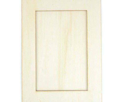 Foto-Rahmen 14x19cm - Hölzerne Ausschnitt (1ks), Holz-Dekoration, Schmuck, Scrapbooking Papier (19x14 Foto-rahmen)