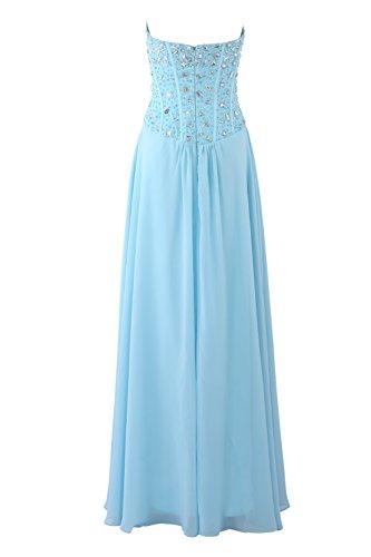 YiYaDawn Langes Ballkleid Abendkleid Festliche Kleider für Damen Weinrot