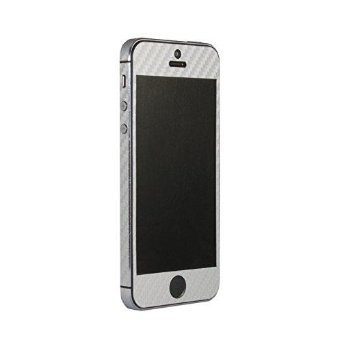Adesivo in vinile 3D per Apple iPhone 5, 5S Black Carbon Fiber Grey Carbon Fiber