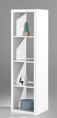 """Raumteiler Raumtrenner """"STYLE"""" 4/1 4 Fächer Regal Regalwand Wohnzimmerwand Bücherregal in weiß"""