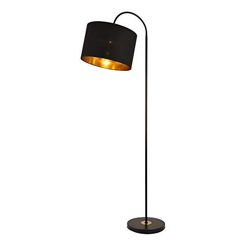 lux.pro] Stehleuchte Toledo 173cm E27 max. 60W Stehlampe Design Standleuchte Industrial Stand Lampe Metall Schwarz mit Schnurzwischenschalter Innenbeleuchtung - Design-stehlampe