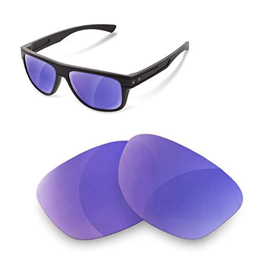 sunglasses restorer Kompatibel Ersatzgläser für Oakley Breadbox (Polarized Purple Mirror Linsen)