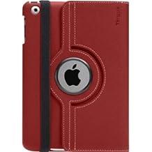 Targus THZ18301EU - Funda con base giratoria de 360° para Apple iPad Mini, color rojo