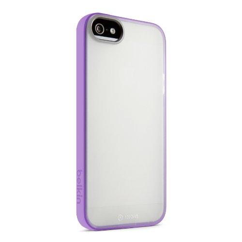 Belkin Grip Candy Sheer Schutzhülle/Cover für iPhone 5und 5S, Durchsichtig/Violett, iPhone 5 and 5S
