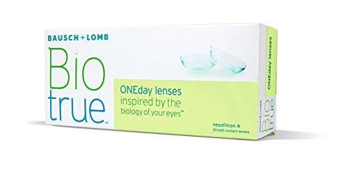 Biotrue ONEday Tageslinsen weich, 30 Stück / BC 8.6 mm / DIA 14.2 mm / -02.50 Dioptrien