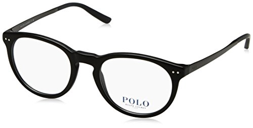 Polo Ralph Lauren - PH 2168, Rund, Acetat, Herrenbrillen, BLACK(5001), 50/20/145 (Ralph Polo Brille Lauren)