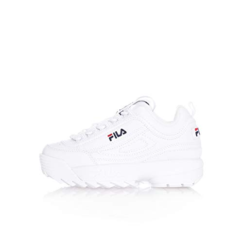 FILA 1010567 Disruptor Kids Zapatillas DE Deporte Junior Unisex White 28