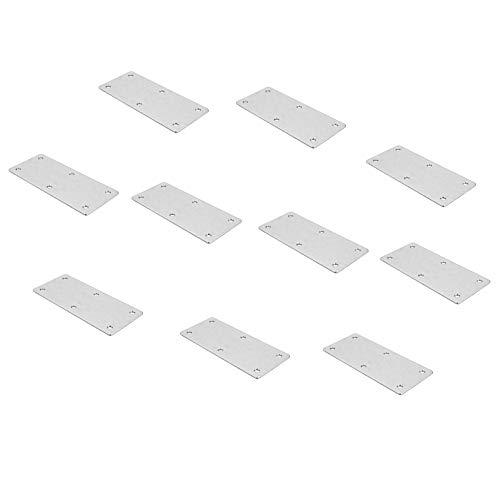 Gedotec Möbelverbinder Metall Verbindungslasche mit 6 Anschraublöcher für Blenden & Möbel | Arbeitsplatten-Verbinder mit Länge 112 mm | Platten aus Stahl | 10 Stück - Schrankverbinder zum Schrauben