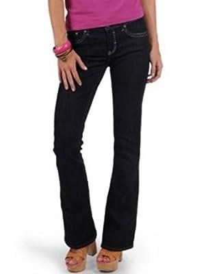 Mavi Women's Jeans Flare; 101362327 Mid Rise, Boot Cut, Dark Lux Royal
