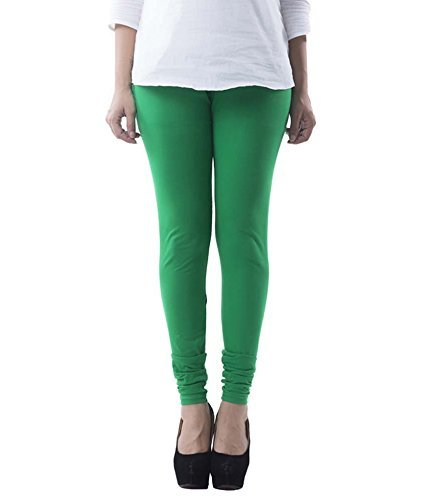 Lili Women's Viscose Cotton Lycra 140 gsm 4 Way Stretchable Churidar Leggings Combo (Pack of 1) - Light Green  available at amazon for Rs.129