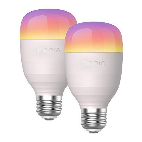 2 bombillas inteligentes Nooie compatibles con Alexa y Google Home por 25,49€ usando el #código: U9KM22O3