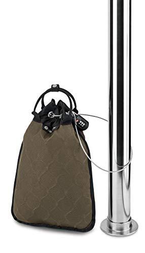 Pacsafe Travelsafe 5L - Mobiler Safe mit TSA-Zahlen Schloß, Trage-Tasche mit Anti-Diebstahl Technologie, 5 Liter Volumen, Beige/Sand