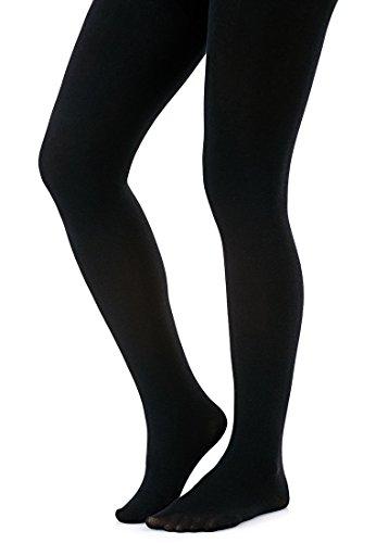 Silky Collant chaud et confortable en polaire thermique 200 deniers toucher velouté doux -  Noir - Small Silky