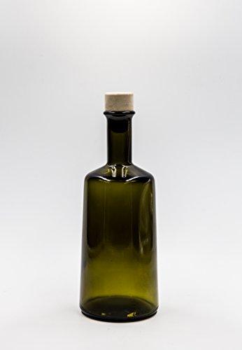 nr 1 Glasflasche Primula 500 ml aus grünem Glas Korkverschluss n°24 -