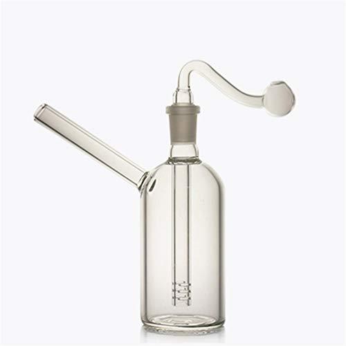 Bruciatore di olio in vetro Pyrex per acqua, tubo spesso trasparente e piccolo bollitore per olio m Transparent