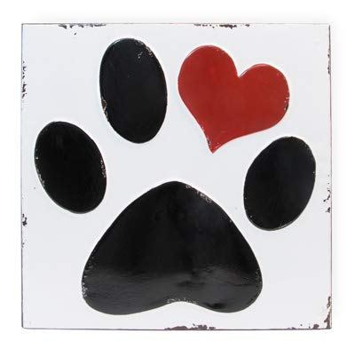 Olive Occasions Valentinstag + Karneval + St Patty's Day Party Supplies Paw Heart Sign