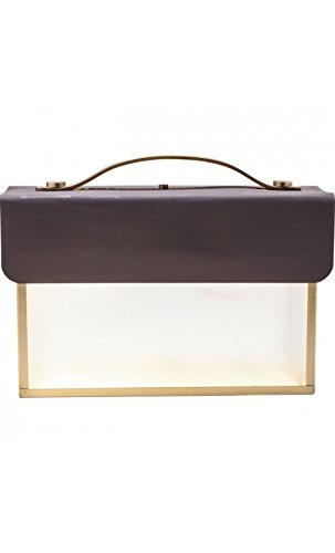 Kare design - Lampe à poser valise marron SMALL
