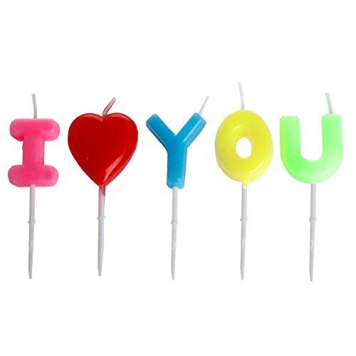 """lilymax última 20165pcs/set top calidad Sweet """"P.S I Love You"""" velas, romántico fiesta de cumpleaños, día de San Valentín, aniversario, fiesta candles-party suministros/decorations-shipped de Reino Unido"""