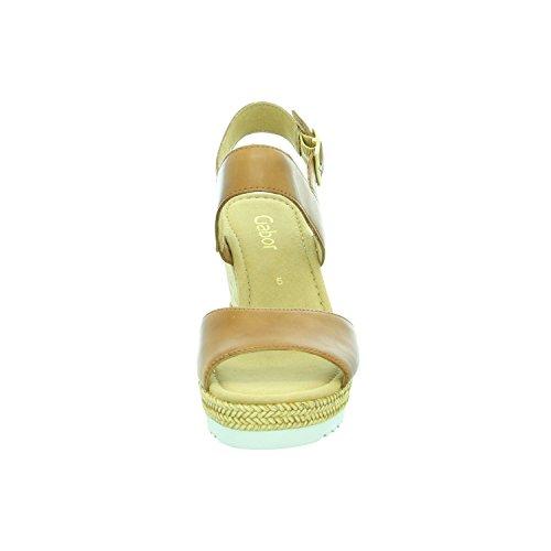 Gabor Fashion, Sandales Bout Ouvert Femme Marron (peanut 22)