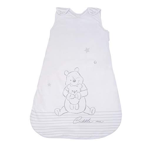 Herding WINNIE PUUH Baby-Schlafsack, 70 cm, Seitlich umlaufender Reißverschluss und Druckknöpfe, Weiß