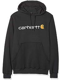 Carhartt .100074.001.S003 Signature Logo Hooded Sweatshirt, Negro, XS