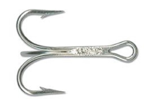 Mustad Classic 3 Extra Strong Duratin Treble Hook (Pack of 25), 3/0