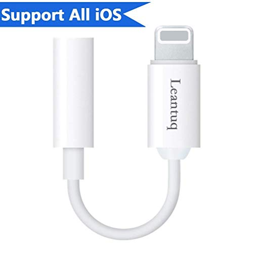 Price comparison product image Jack AUX Audio AdapterLightning to 3.5mm Headphone for iPhone 7/7Plus/iphoneX/iphone8/8Plus/iPad/iPod Converter 3.5mm Headset Earphone Lightning Jack Accessories. 2 in 1 Female Audio Jack Eardphone Cable Adaptor Connection Cable Splitter Converter for iPhone 7 / 7 Plus,Support iOS 10.3 /11 and Later.(White)