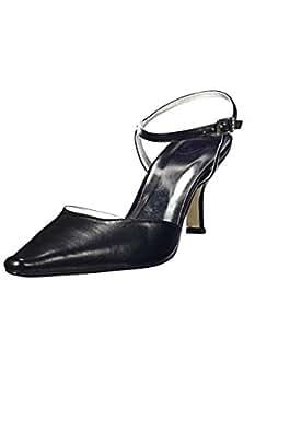 Chaussures noires avec bride pour la Mariée - Noir - P-36