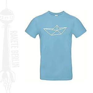 Herren T-Shirt 'Origami Schiff' Baumwolle