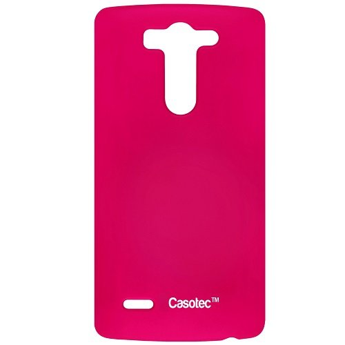 Casotec Ultra Slim Hard Shell Back Case Cover for LG G3 Beat - Hot Pink  available at amazon for Rs.125