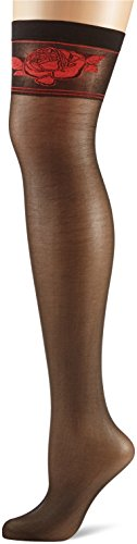 Fiore Damen ETHERIS/OBSESSION Strapsstrümpfe, 20 DEN, Schwarz (Black 001), Small (Herstellergröße:2)