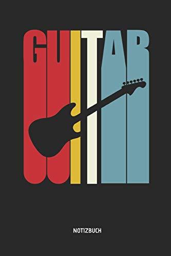 Notizbuch: Retro Elektrische Gitarre - Liniertes Gitarren Notizbuch & Schreibheft. Tolle Geschenk Idee für Gitarristen, Gitarren Musik Liebhaber, Gitarren Lehrer und Schüler. (Kinder Gitarre Ständer Akustik)