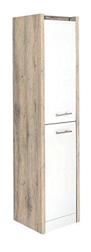 Schildmeyer Hochschrank Trient, Holz Dekor, 38 x 35 x 157,5 cm, wildeiche