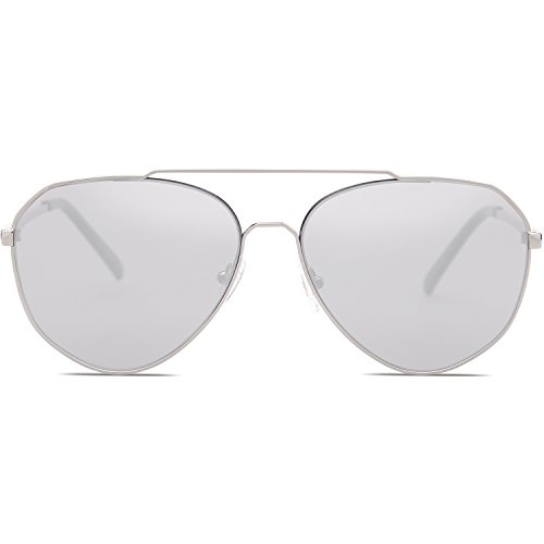 d51d06ced7 SOJOS Aviator Sunglasses Mirrored Flat Lens for Men Women UV400 SJ1083 ...