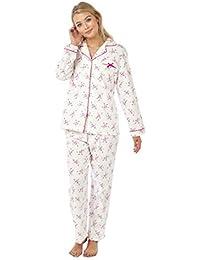 ba637a59b2 Marlon Ladies Long Sleeve Brushed Cotton Pyjamas Wincy Pj Size 8 to 26