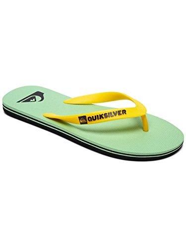 Quiksilver Molokai - Flip-Flops for Men Scarpe da Spiaggia e Piscina Uomo, Nero Black/White Xkkw, 44 EU