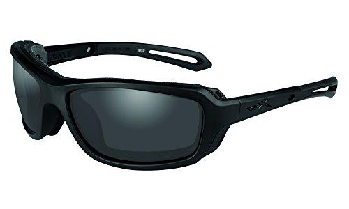 Wiley X Erwachsene Wave Schutzbrille/Schiessbrille, schwarz, S-M