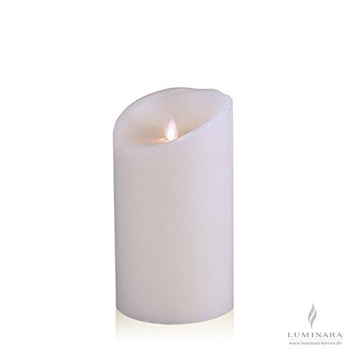 Luminara LED de la vela de cera de 10 x 18 cm de colour blanco liso