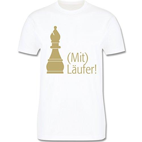 JGA Junggesellenabschied - Mitläufer - Herren Premium T-Shirt Weiß