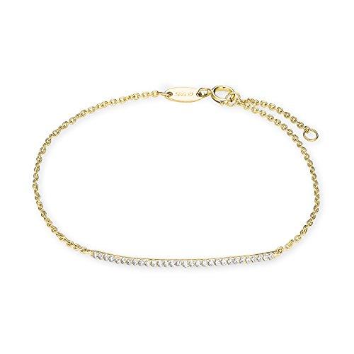 Amor Damen-Armband mit Zirkonia aus 585er Gelbgold