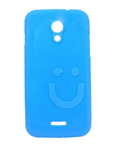 iCandy™ Imported Quality Soft TPU Smiley Back Cover For Micromax Canvas 2.2 A114 - Turquoise  available at amazon for Rs.109