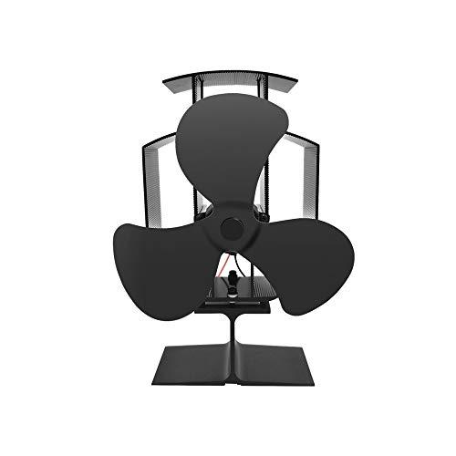 DuDuDu Kaminofen Eco Fan-Wärme angetrieben Ultra leise Triple Blade Kamin Gebläse für effiziente Wärmeverteilung