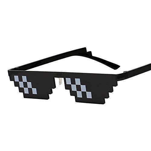 KSHJGV Mosaik-Brille Lustige Cosplay mosaik gläser Set Mode Frauen männer 8 Bits Stil Pixel Sonnenbrille