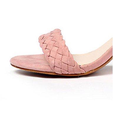 LvYuan Sandali-Formale Casual Serata e festa-Con cinghia Club Shoes-Quadrato-Finta pelle-Nero Rosa Pink