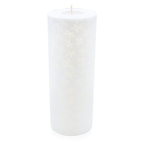 Handgemachte Kerze White Star, Pillar XXL