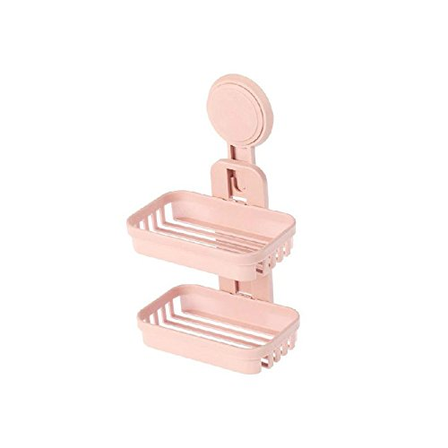 CWAIXX Toilette spielen doppelt Seifenkiste aus dem Saug Abfluss Loch an der Wand befestigte Seife Teller Bad Seife stehen Seifenschale, - Teller Wand Stehen