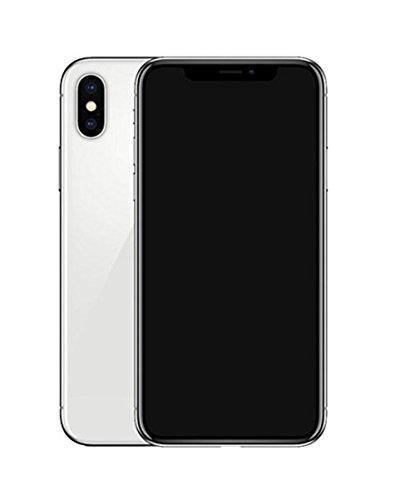 Preisvergleich Produktbild Dummy-Display gefälschte Telefon Metallic-Modell nicht funktionierende Replik Telefon für Phone X 10 (Silber Schwarz-Bildschirm)