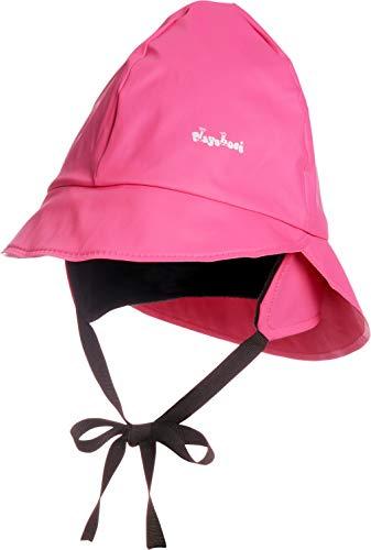 Playshoes Baby Regen-Mütze, wind- und wasserdichte Unisex-Mütze für Jungen und Mädchen mit Fleecefutter, mit Playshoes-Motiv, Rosa (18 pink), 51 cm - Hell Rosa Futter